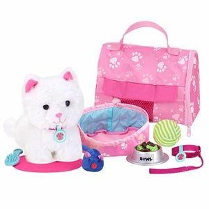 ✨✨✨10-Piece White Kitten & Carrier Set✨✨✨